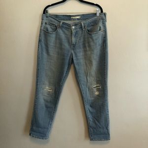 Levi's Boyfriend Distressed Jeans